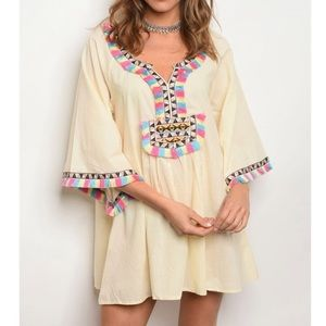 Beautiful tassel swim coverup